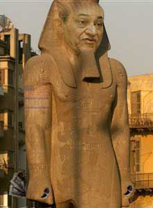 Hosni Mubarak as Pharaoh